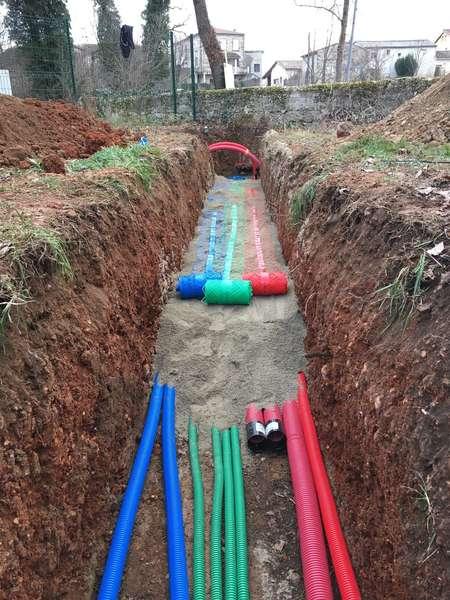 Création des réseaux secs et humides pour la rénovation d'une propriété
